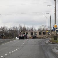 Перекресток улицы Папанина и Окружного шоссе