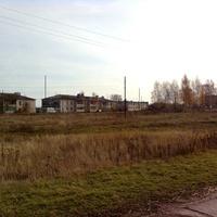 Вид на дома и школу села Яблонево