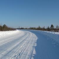 Берёзово. Зимняя дорога Саранпауль-Берёзово
