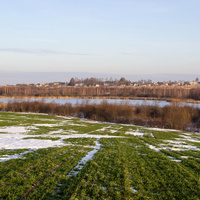 Вид на озеро у деревни Большой Озерецк