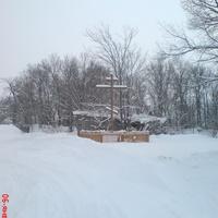 Поклонный крест на месте разрушенной Савальской Богородицкой церкви