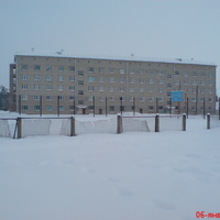 Общежитие техникума (вид со стадиона)