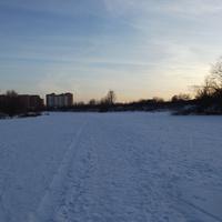 Замёрзшая речка Быковка
