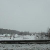 Вид на поселок с дороги