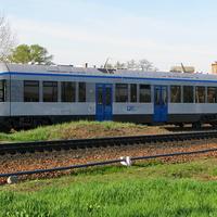 Новый дизель-поезд ДП1-001 региональных линий эконом-класса на ст. Калинковичи, в ходу с 01.05.2012г.