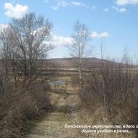 Селихинские окрестности: сопки, дорога к речке...