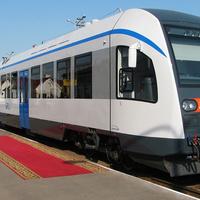 Дизель-поезд ДП1-001 отправился в первый рейс 01.05.2012г. по маршруту Калинковичи - Словечно