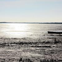 Споровское озеро зимой