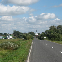 Вид на деревню со стороны Добринева
