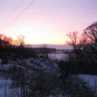 Зимний закат в Батурино