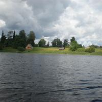Вид на д.Высочерт,со стороны озера.