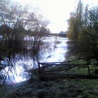 Осенний паводок в деревне
