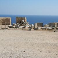 Вид на Средиземное море из древнего Линда