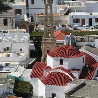 Кварталы Линдос и церковь Богородицы