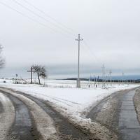 Развилка дорог в конце деревни