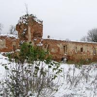 Руины бывшего замка Сапег (вид изнутри)