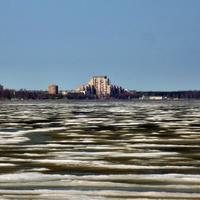 Вид на Сестрорецк с озера Разлив