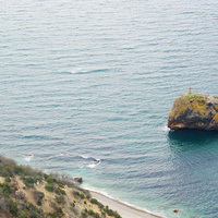 Фиолент.Внизу скала-остров Святого явления