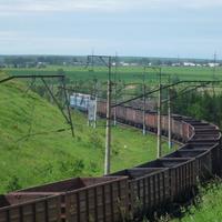 Грузовой поезд на Абакан