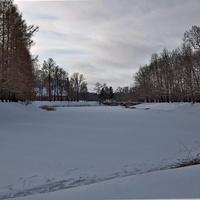 Каскадные пруды зимой