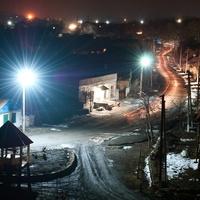 в посёлке ночь!!!