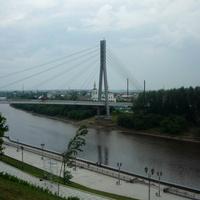Река Тура, пешеходный мост
