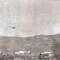 Пограничный вертолет на Кадаёй 1978 г.