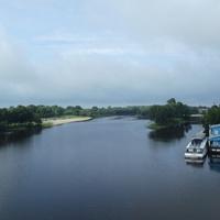 Река Пина и речной вокзал