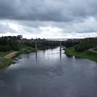 Река Неман (вдали – железнодорожный мост)
