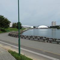 Озеро на Свислочи (недалеко от проспекта Победителей)