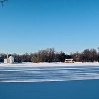 Екатерининский парк. Большой пруд зимой.