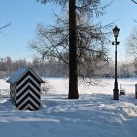 Екатерининский парк. На Большом острове зимой.