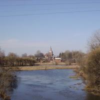 Река Вязьма. Вид с моста в центре города