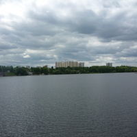 Долгопрудный и начало Клязьминского водохранилища
