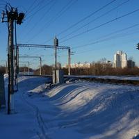 Вид на микрорайон Загорье, Москва
