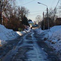 Центральная улица в Булатникове