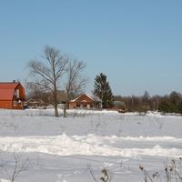 зимой в поселке