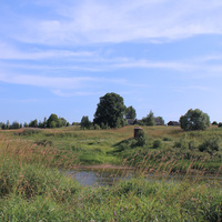 д. Симонов Городок вид из-за реки 2011 г