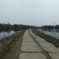 Бетонная дорога между «морем» и рекой