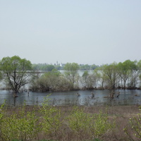 Село Марчуги, река Москва