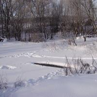 Речка Дорка (возле железнодорожного моста)