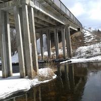 мост через речку валдайку