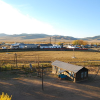 Унэгэтэй, Вид с крыши школы на Унэгэтэйский консервный завод