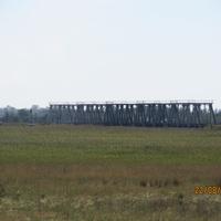 ЖД мост через речку Молочная у села Троицкое