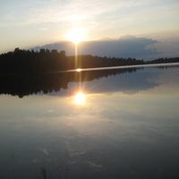 закат на Валдайском озере