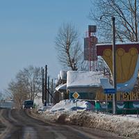 Въезд в Архангельск с южной стороны