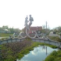 Слияние ручья МУХА и канала ВЕЦ