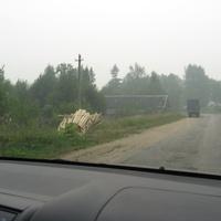 Въезд в п.Травково от Боровичей