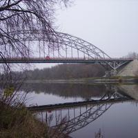 Вид на канал и мост в Дмитрове