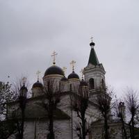 Каменная четырёхпрестольная церковь Белая Троица в Затьмачье